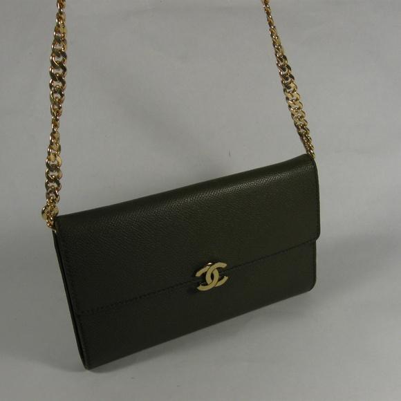 CHANEL Handbags - Rare CHANEL Leather Wallet Clutch-Cross Body Bag